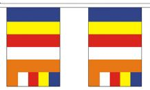 BUDDHIST BUNTING - 9 METRES 30 FLAGS